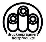 Logo druckimprägniert holzprodukte