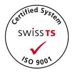 Logo Certified System SWISS TS ISO 9001